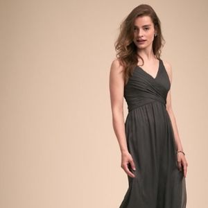 Anthropologie BHLDN Charcoal Gray Angie Dress